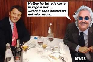 Renzi e Briatore