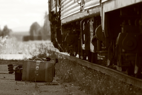 Skeena train a Prince George (British Columbia, Canada)